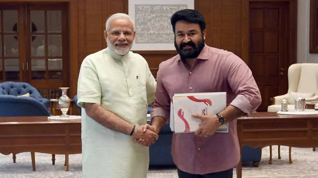 mohanlal-with-modi