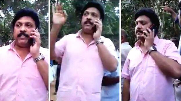Ganesh Kumar takes rash JCB driver to task in cinema style