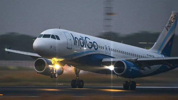 Indigo flight makes emergency landing after when left engine caught fire.