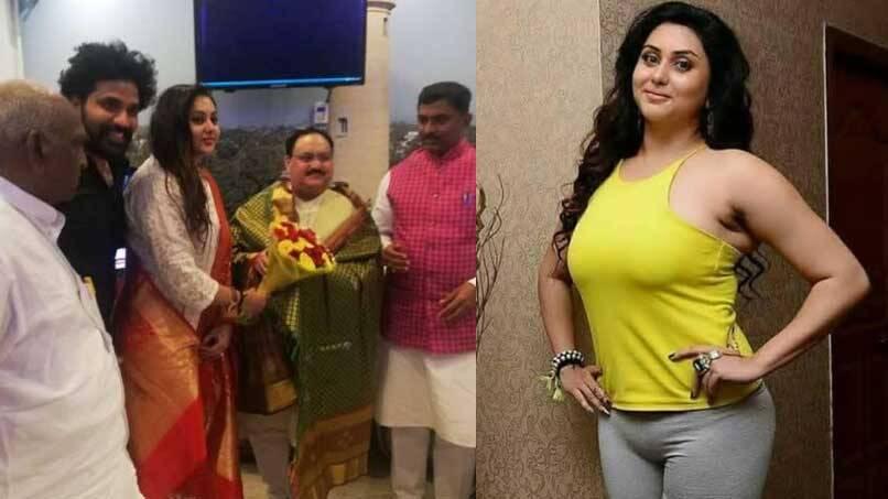 Popular South Indian Actress Namitha Joins Bjp India General Kerala Kaumudi Online